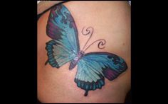 Butterfly Tattoos By Hellcatmolly ~ Butterfly Tattoo Ideas Butterfly Tattoo Cover Up, Butterfly Tattoo Meaning, Butterfly Tattoo On Shoulder, Butterfly Tattoos For Women, Butterfly Tattoo Designs, Butterfly Images, Great Tattoos, Beautiful Tattoos, Foot Tattoos