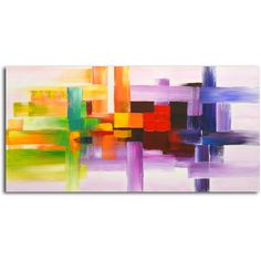 Derivitives of Color' Original Oil Painting on Canvas **wall behind kitchen table???