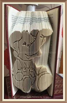 Elephant Book Folding PATTERN by JHBookFoldPatterns on Etsy