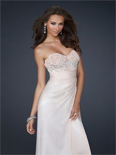 Column Strapless Sweetheart Neckline with embellishments Chiffon Prom Dress PD11066 www.dresseshouse.co.uk $126.0000