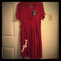 Alabama Crimson TShirt Dress NWT (Roll Tide Roll) Brand New Crimson Colored TShirt Dress (Knee Length) SUPER CUTE !!!    Make an offer if interested !!!! Glitter Gear Vintage Clothing  Dresses