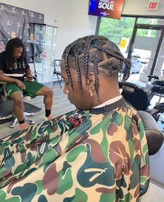 Dreadlock Hairstyles For Men, Twist Braid Hairstyles, Braided Hairstyles For Black Women, Dope Hairstyles, Black Hair Cuts, Black Curly Hair, Braids For Black Hair, Hair Twist Styles, Hair And Beard Styles