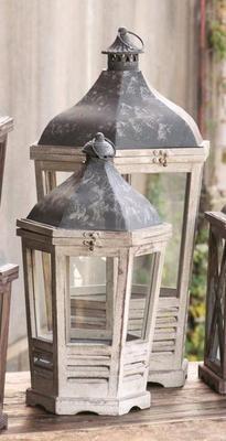 Lamplighter Lantern Candle Holders S/2 Pottery Barn ~Wedding Decor