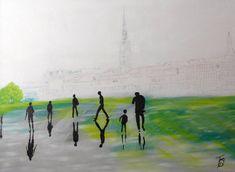 Original Cities Painting by Nicole Theresia Spitzwieser Bordeaux, Modern Art, Saatchi Art, Original Paintings, Canvas Art, Walking, Portrait, City, Artist
