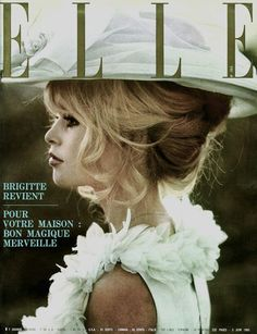Brigitte Bardot on the cover of Elle