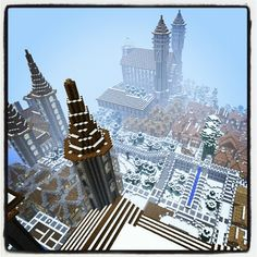 Epic Minecraft castle village