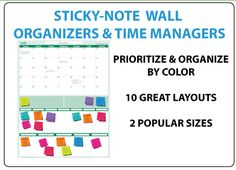 Sticky-Note Wall Planners