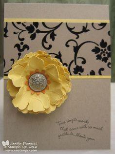 Northwest Stamper » Jennifer Blomquist, Stampin' Up. Love the yellow, black and white.