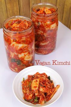 Vegan Kimchi recipe Seonkyoung, how to make kimchi without fish sauce? How to make kimchi vegan? How to make kimchi in small batch? So I decided to answer to your question by making small batch (using only 1 large napa cabbage) of kimchi,. Vegan Kimchi Recipe, Korean Kimchi Recipe, Recipes With Kimchi, Asian Recipes, Healthy Recipes, Ethnic Recipes, Vegan Cabbage Recipes, Healthy Food, Canning Recipes