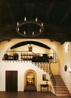Spanish colonial- love the ceilings.