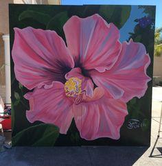 Bloom n Chalk Fest 2017Safety Harbor, FL 8x8 Mural latex house paint house paint14 hours #juliearts3 #juliegraden #streetart
