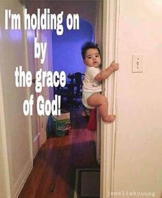Grace and grace alone Funny Baby Memes, Funny Relatable Memes, Funny Babies, Hilarious Jokes, Funny Christian Quotes, Christian Jokes, Christian Cartoons, Religious Quotes, Spiritual Quotes