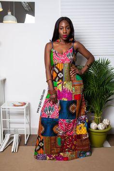 Famla Patchwork African Maxi Dress