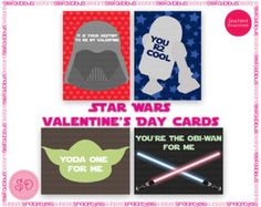 Star Wars School Valentines Printable Card by SteliePrintables