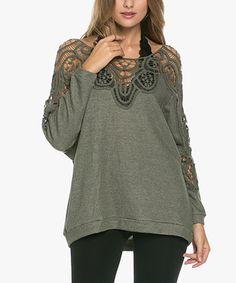 Love this WishList Gray Crochet Boatneck Sweater by WishList on #zulily! #zulilyfinds