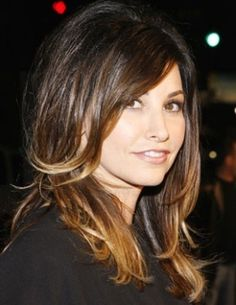 Gina Gershon has ombre hair too!