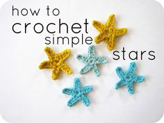 Cornflower Blue: crochet tutorial :: simple stars