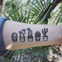 Succulent   Cactus Temporary Tattoo