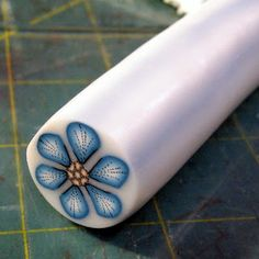 Kael Mijoy: Polymer Clay Tutorial: Blue Stitched Flower Cane