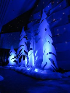 Whoville Trees, Northbrook Church, Richfield, WI by ebony