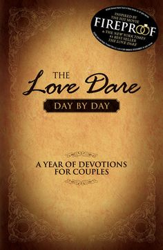 The Love Dare Day by Day: A Year of Devotions for Couples- this devotional can and will change your marriage for the better, whether you've been married 2 days or 20 years. I HIGHLY recommend it.