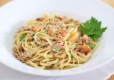 PANELATERAPIA - Blog de Culinária, Gastronomia e Receitas: Bavette com Molho de Atum