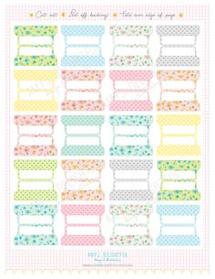 photo regarding Printable Divider Tabs called 40 Perfect Printables: Tabs Dividers visuals inside of 2018