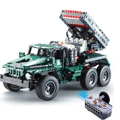 Actcute RC Rocket Launcher Truck Car Creator Technic Military Power Funcation MOC Building Blocks Bricks Toys for Birthday Gift Boys ** Continue to the product at the image link. (This is an affiliate link) Chevrolet Corvette, Corvette Cabrio, Ferrari 348, Toy Cars For Kids, Toys For Boys, Porsche 356, Bm 21 Grad, Carl Benz, Rc Drift Cars