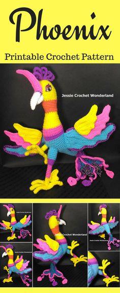 Amigurumi Phoenix Crochet Pattern Printable PDF #ad #amigurumi #amigurumidoll #amigurumipattern #amigurumitoy #amigurumiaddict #crochet #crocheting #crochetpattern #pattern #patternsforcrochet #printable #instantdownload #phoenix