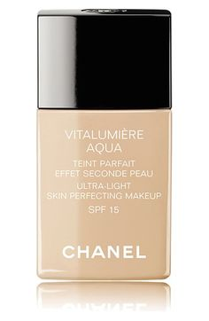 CHANEL VITALUMIÈRE AQUA  Ultra-Light Skin Perfecting Suncreen Makeup Broad Spectrum SPF 15 available at #Nordstrom