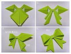 Resultado de imagem para laço de origami passo a passo
