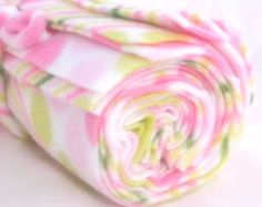 Pink Polka Dots Wipe & Wash  Reusable Fleece by NewEnglandQuilter, $8.25