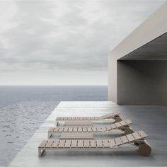 Seaside house with terrace _ Atlantic lounge chairs by Gandia Blasco _