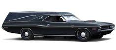 1970 Dodge Challenger Hearse graphic