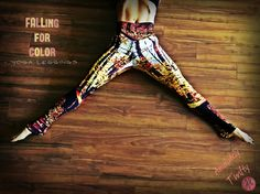 """Absolutely Thrifty's """"FALLing For Color""""- Yoga Leggings Leggings, Beanies, and Scarves. Go from Yoga to dinner in our body hugging printed leggings. Compression fit performance fabric milled in Montreal. Made to last, our fabric won't lose shape and our vibrant prints never fade. Opaque, safe to wear for working out. #yoga #leggings #yogapants #capris #activewear #gymwear #fitness #workoutclothes #northamerican #womensfashion #originaldesign #spandex #polyester #fall #tree #nature #camo"""