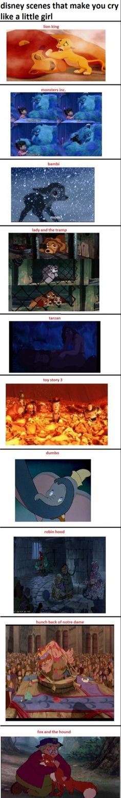 All these scenes made me bawl my eyes out when I was little.. Heck! they still do.