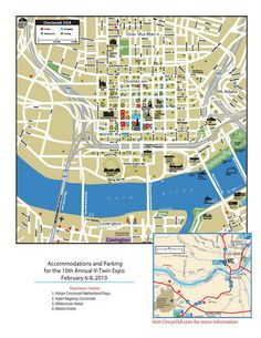 Cincinnati, Ohio Restaurant Map