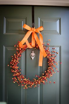 autumn berry wreath - love orange, red, yellow berries can also use for vase filler or candle