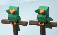 PAPERMAU: Green Parrot Paper Model For Kids - by Disney Junior