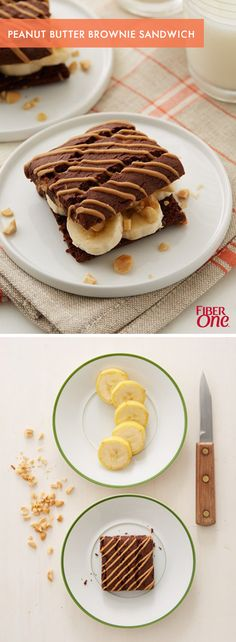 Treat yourself with a simple, yet delicious, dessert hack made with a 90 calorie Fiber One brownie, a banana and some chopped peanuts! Make one for yourself, or make them for your guests when it's your turn to entertain.