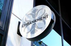 Embankment Caffè, Docklands Melbourne #Signage #Design