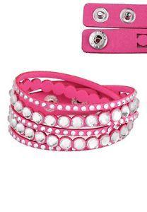 NEW SWAROVSKI STYLE DOUBLE WRAP SLAKE BRACELET - Summer Essential ���� Hot Pink | eBay