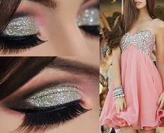 Glitter and pink outfit