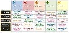 Words Their Way word sorting schedule