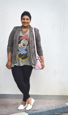 Cute and fashionable way to incorporate a character T into a more dressy outfit.