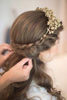 braided wedding hairstyles half up half down
