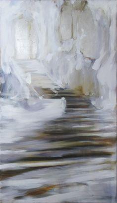 Riikka Soininen Talvi lähenee / This close to winter Finland Winter Painting, Creative Skills, Art Forms, Finland, Contemporary Art, Abstract Art, Survival, Stairs, Felt