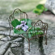 Miniature Fairy Garden Day Bed