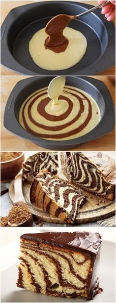 Easier than it looks marble cake Sweet Recipes, Cake Recipes, Dessert Recipes, Peanut Butter Mousse, Cakes And More, Creative Food, Let Them Eat Cake, Amazing Cakes, Cupcake Cakes