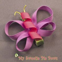 Pastel Butterfly Clippie by MySweetiePieBows on Etsy